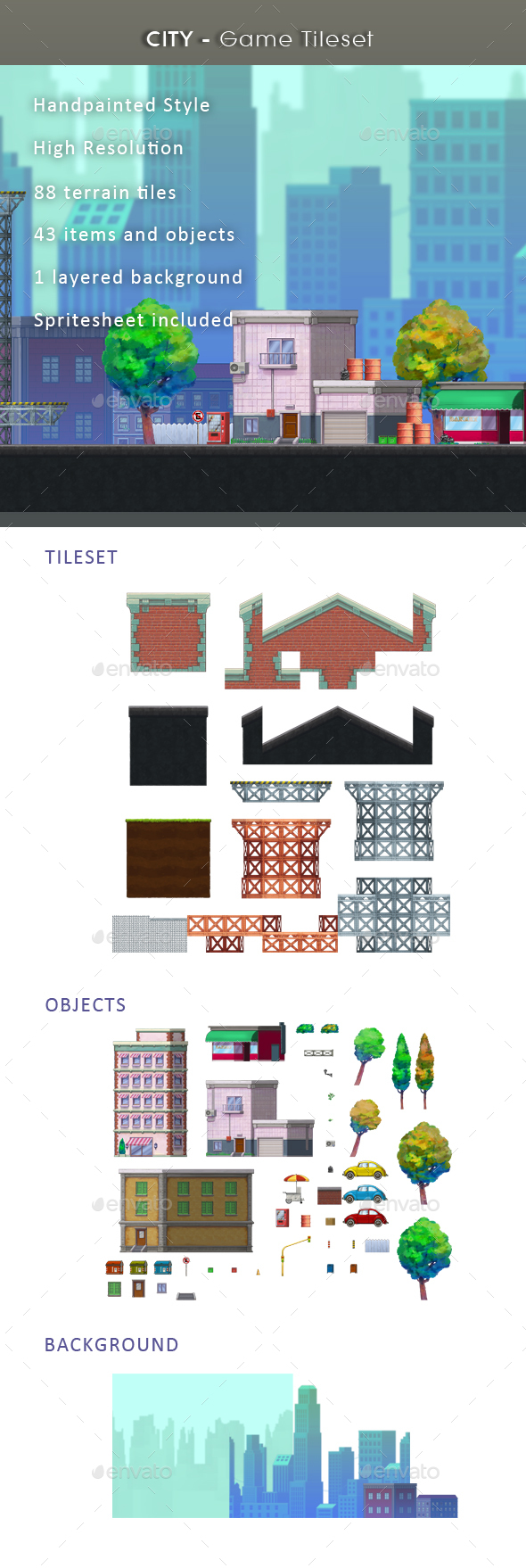 Graphicriver City - Game Tileset 19463529