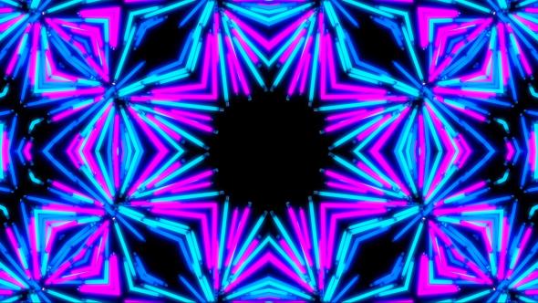 VideoHive Light Neon Kaleidoscope 19463980