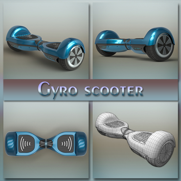 Gyro scooter - 3DOcean Item for Sale