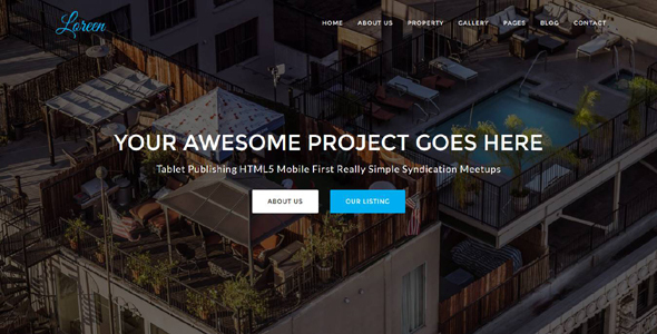 Download Loreen - Real Estate HTML Template