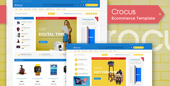 Crocus - Electronics Store, Fashion Store & Organic Store HTML5 Template
