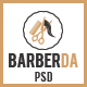 BARBERDA - One-Page PSD Template for BARBER
