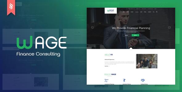 Wage – Company and Finance PSD Template (Company)