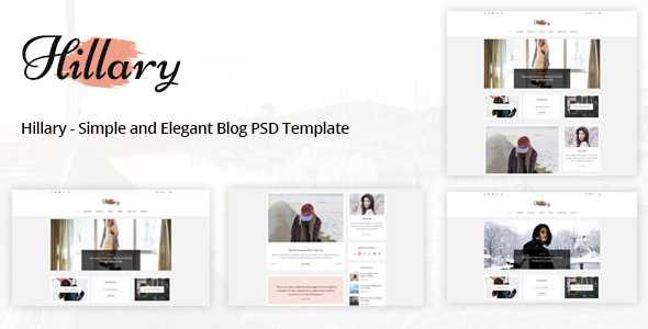 Hillary - Simple and Elegant Blog PSD Template