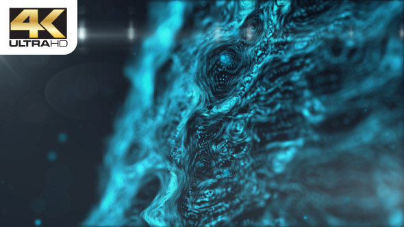 VideoHive Digital Blue Dust Wave 19467081