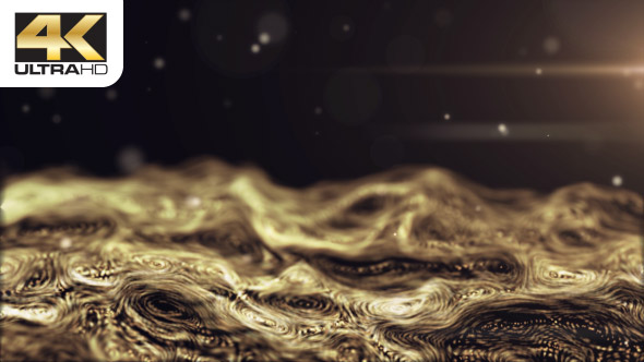 VideoHive Gold Flow Particles Waves 19467093