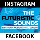 Futuristic Sounds Festival and Event Facebook/Instagram Templates