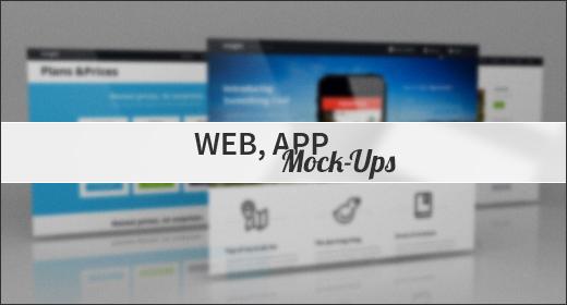 Web, App Mock-Ups