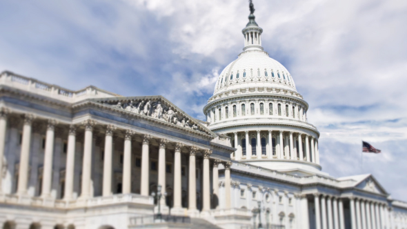 VideoHive National Capitol Building With Us Flag 19467803