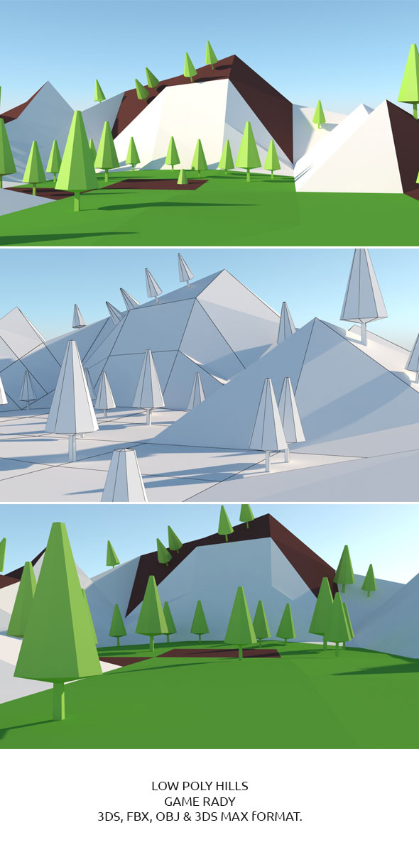 Low Poly Hills 1 - 3DOcean Item for Sale