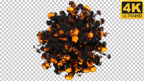 VideoHive Black Ball Explosion 19468078