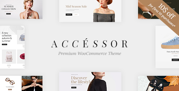 Accessories Shop – On-line Retailer, WooCommece &amp Buying WordPress Theme (WooCommerce)