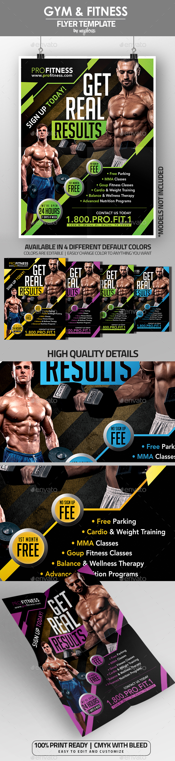 Gym & Fitness Flyer / Poster Template V1