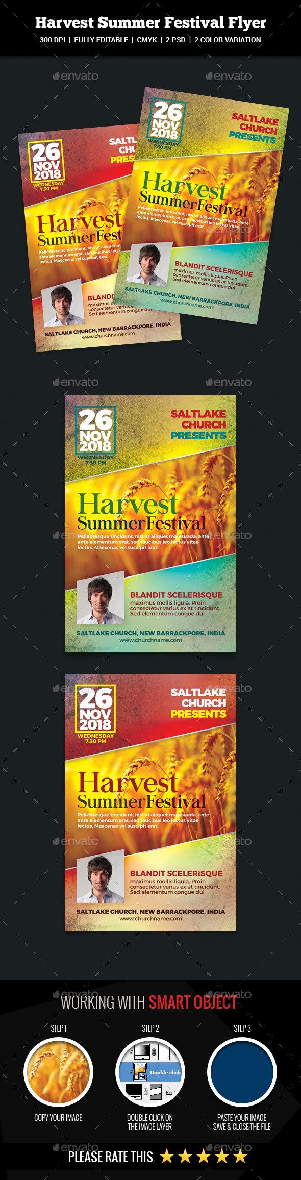Harvest Summer Festival Flyer