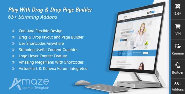 Download Amaze - Corporate Responsive Multi-Purpose Joomla Template