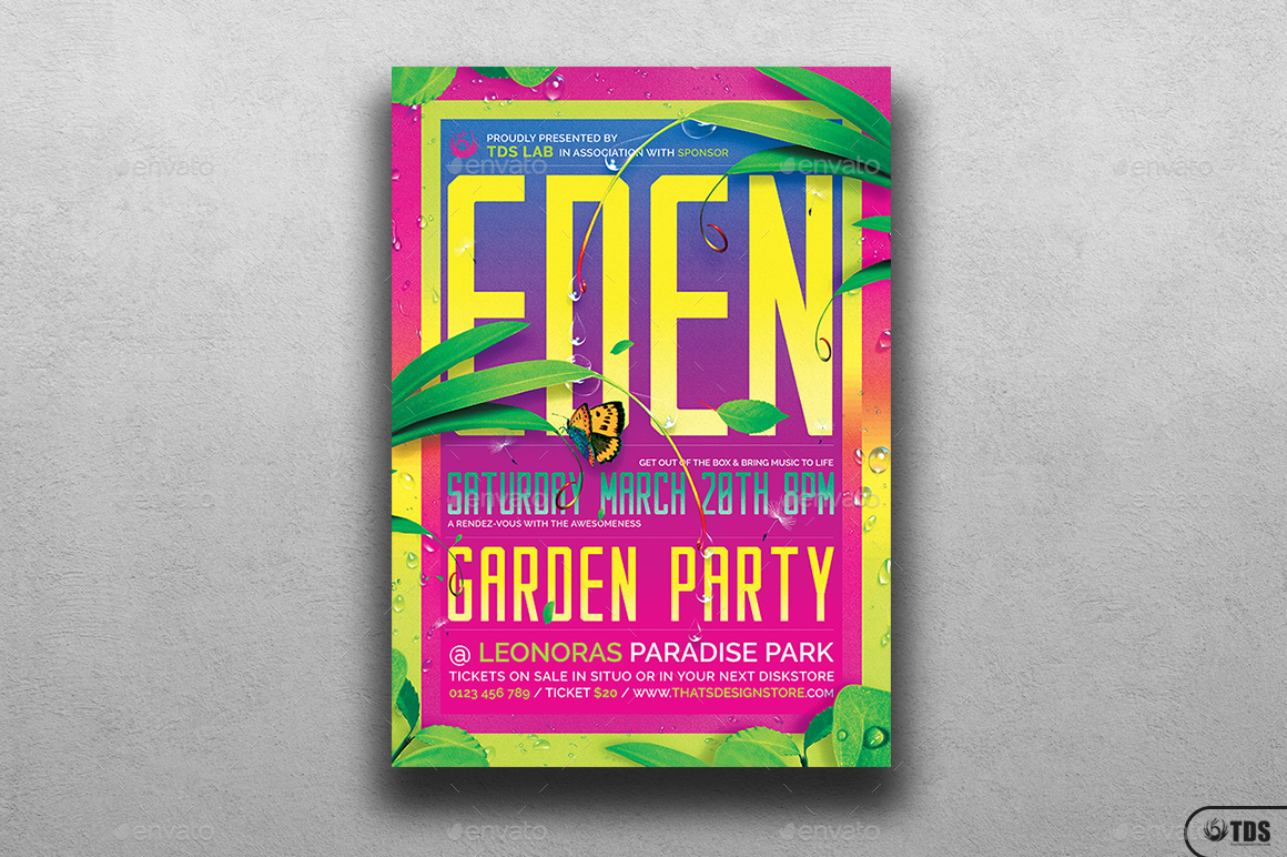 garden party flyer template by lou606 graphicriver 01 garden party flyer template jpg