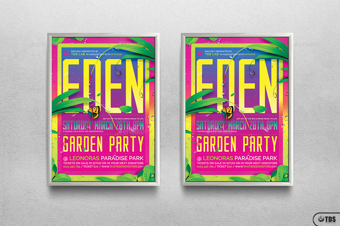 garden party flyer template by lou graphicriver party flyer template jpg