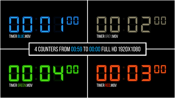 VideoHive 4 Counters HD 19469173