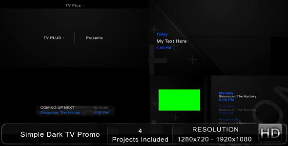 VideoHive Simple Dark TV Promo 1865477