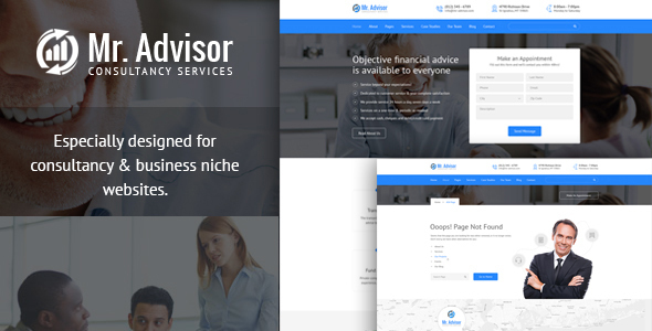Download Mr Advisor - Consulting, Business, Finance And Accounting Template