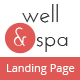 well&spa- Responsive Spa/Beauty Landing Page Template