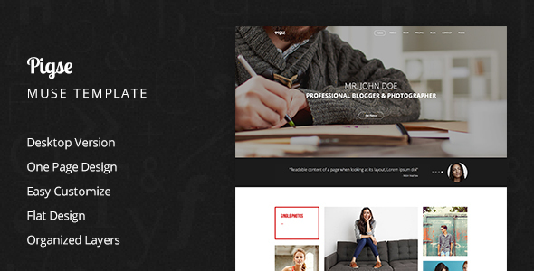 Pigse Photography Muse Template