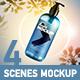Set 4 Mockup - Shampoo Pump Bottle