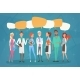 Group Medial Doctors Chat Bubble Social Network