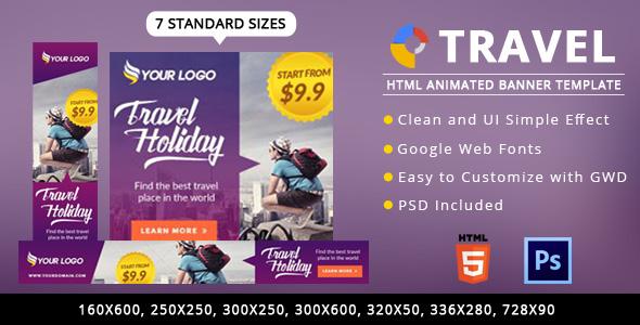 Download Travel Ads Banner HTML5 - GWD