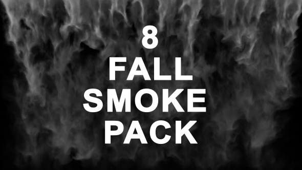 VideoHive 8 White Smoke Falling Footages 19472567