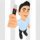 3D Information Technology Technician with a Usb Memory Stick
