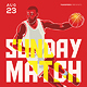 Basketball Match Flyer Template 4
