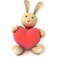 Plush Bunny Holding Heart