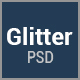 Glitter - One Page Multipurpose Business PSD Template