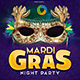 Mardi Gras Flyer Template - Image Included