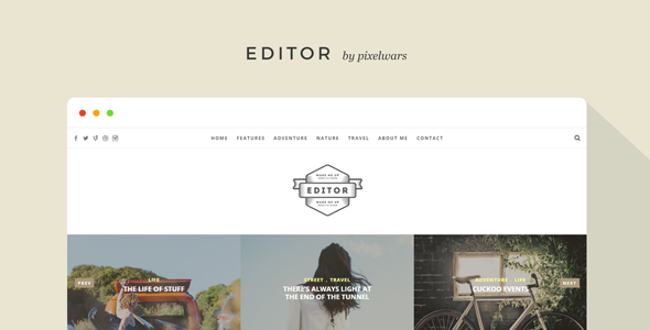 Editor - Blog and Portfolio Template