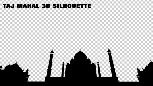 VideoHive Taj Mahal 3D Silhouette 19476845