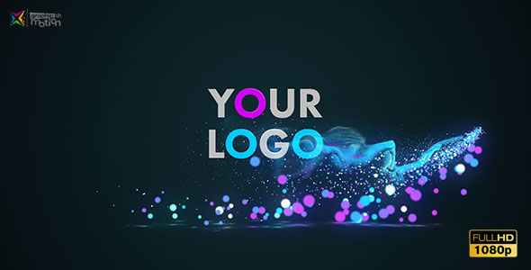Glow Particles Logo