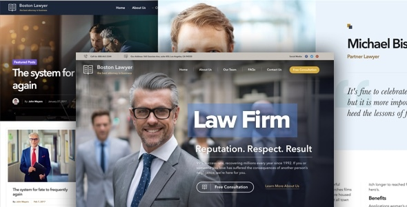 Lawyer – Law firm and Legal Lawyer WordPress Theme (Business enterprise)