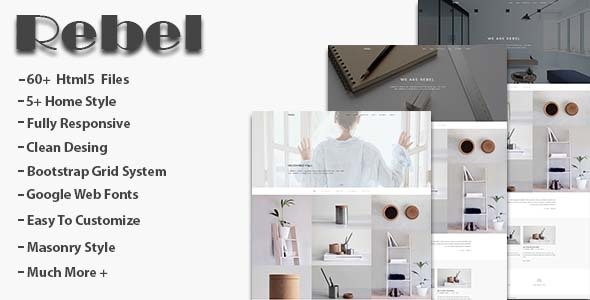 Download Rebel - Minimal Portfolio Template