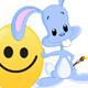 Bunny Painted Easter Emoji Egg