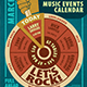 Music Events Calendar Poster Template