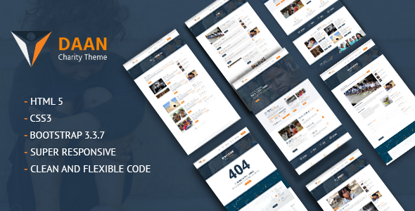 Daan - Charity Non-Profit HTML Template
