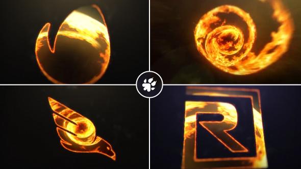 VideoHive Fire Vortex Logo 19438036