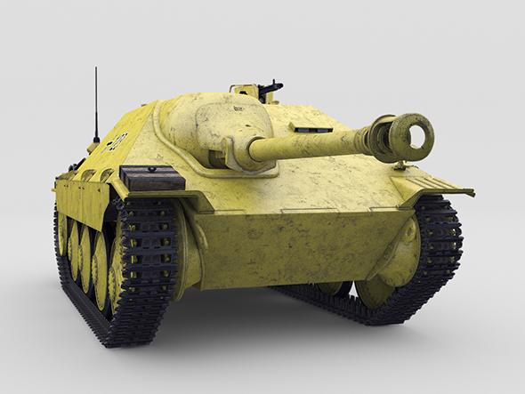 Jagdpanzer 38 Hetzer 3D model - 3DOcean Item for Sale