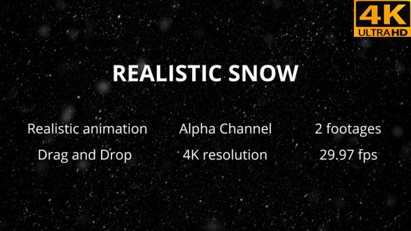 VideoHive Realistic Cinema Snow 19452939