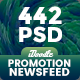 [Biggest Bundle] - Promotion NewsFeed Facebook Banner Ads - 442 PSD [02 Size Each]