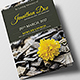 Funeral Program Brochure Template 6