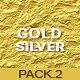 20 Gold & Silver Textures / Backgrounds - Pack 2