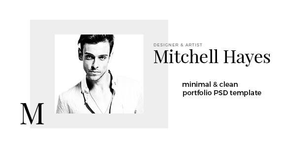 Mitchell Hayes – Portfolio PSD Template